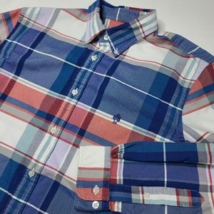 Brooks Brothers Large Red Blue Plaid Button Shirt